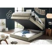 Boxspringbett Griggs 120x200 |Bettkasten in Beige - loftscape