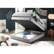 Boxspringbett Griggs 140x200 Silber |Bettkasten - loftscape