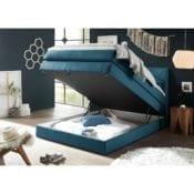 Boxspringbett mit Bettkasten Griggs 120x200 Blau - loftscape