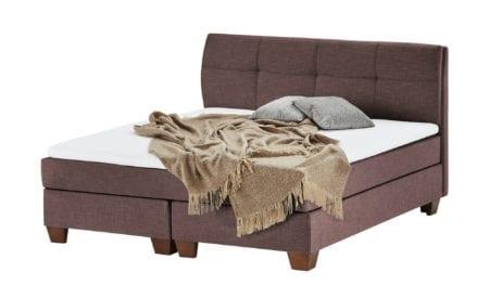 SKAGEN BEDS Boxspringbett Vegg 140×200 cm in Pflaume