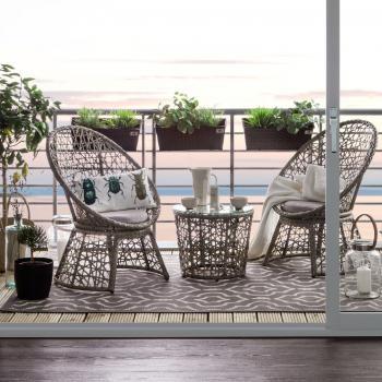 Balkonset Moosh 3 teilig Jardi Gartenmöbel-Sets