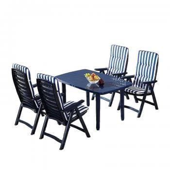 Gartenessgruppe Santiago 5 teilig Best Freizeitmöbel Gartenmöbel-Sets