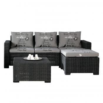 Sitzgruppe Kenia 3 teilig Best Freizeitmöbel Loungemöbel und Gartenlounge